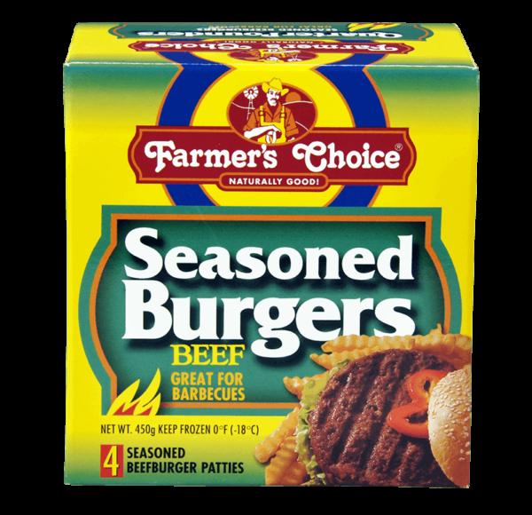 Farmer's Choice Seasoned Burgers